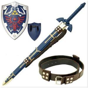 Legend-of-Zelda-Complete-Link-Cosplay-Set-Master-Sword-Shield-Belt-Steel-Leather