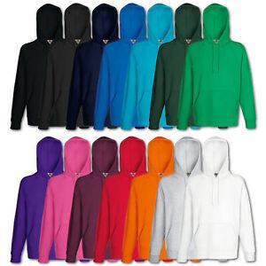 Fruit-of-the-Loom-Kapuzenpullover-Sweatshirt-Lightweight-Hoodie-Shirt-M-L-XL-XXL