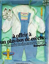 PUBLICITE ADVERTISING 104  1980  BABYMINI   vetements bébés layette