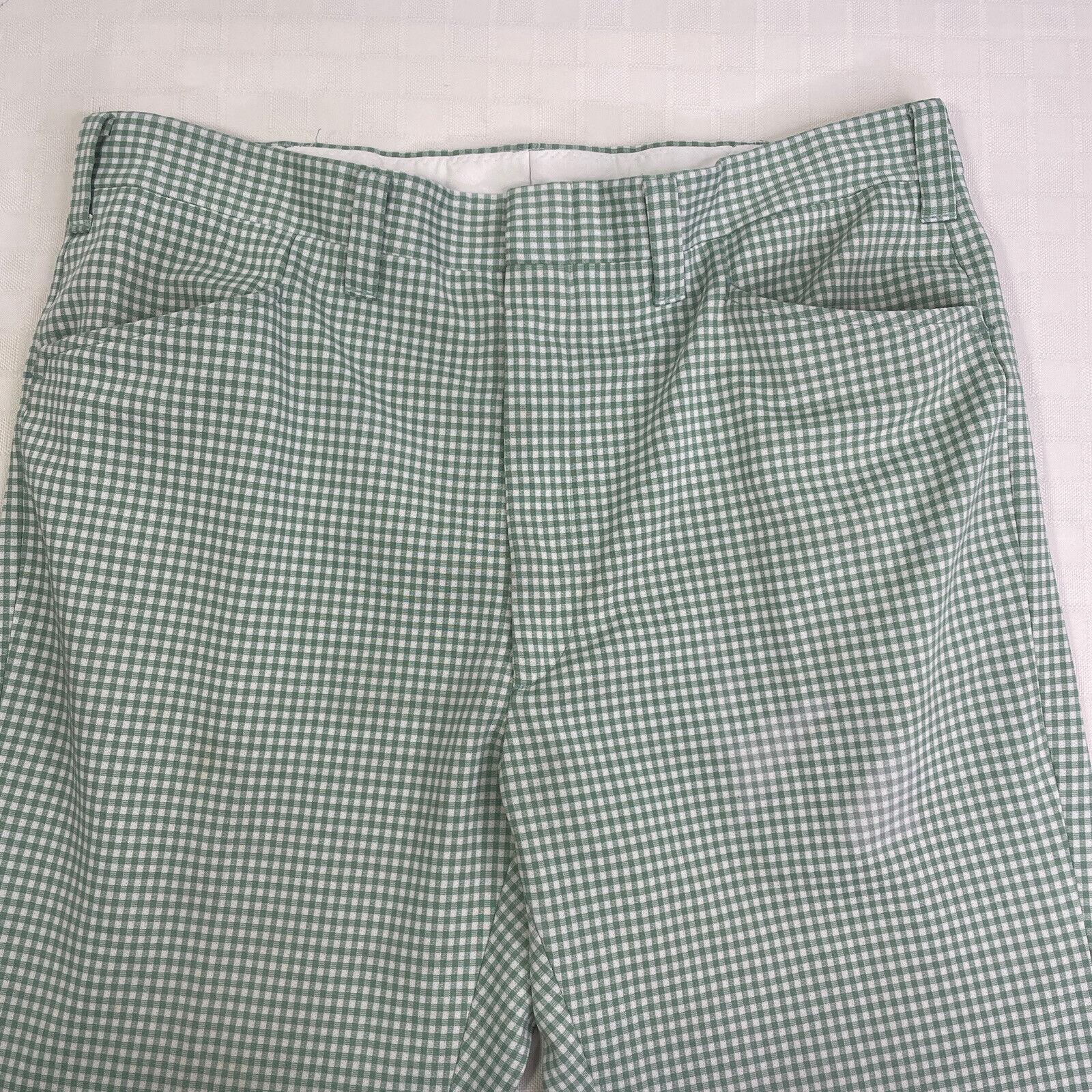 Haggar Green Plaid Check Leisure Golf Pants Vinta… - image 3