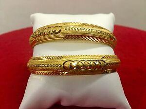 Indian-Ethnic-Traditional-2PC-Gold-Plated-Jewelry-Kada-Bangles-Bracelets-Set