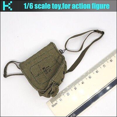 Y47-26 1//6 scale ACE Vietnam war-101st Airborne Popeye M17 gas mask bag