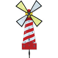 White Shoal Lighthouse Windmill Staked Spinner W/ Pole & Ground Mount Pr 25094