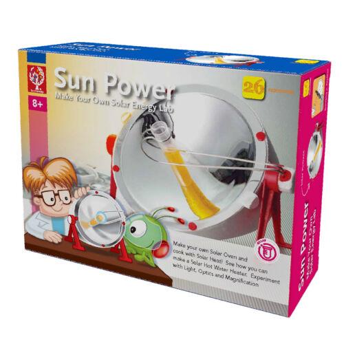 26 Experimente mit Solarparabolspiegel Sunpower NEU /& OVP Sonnenenergie