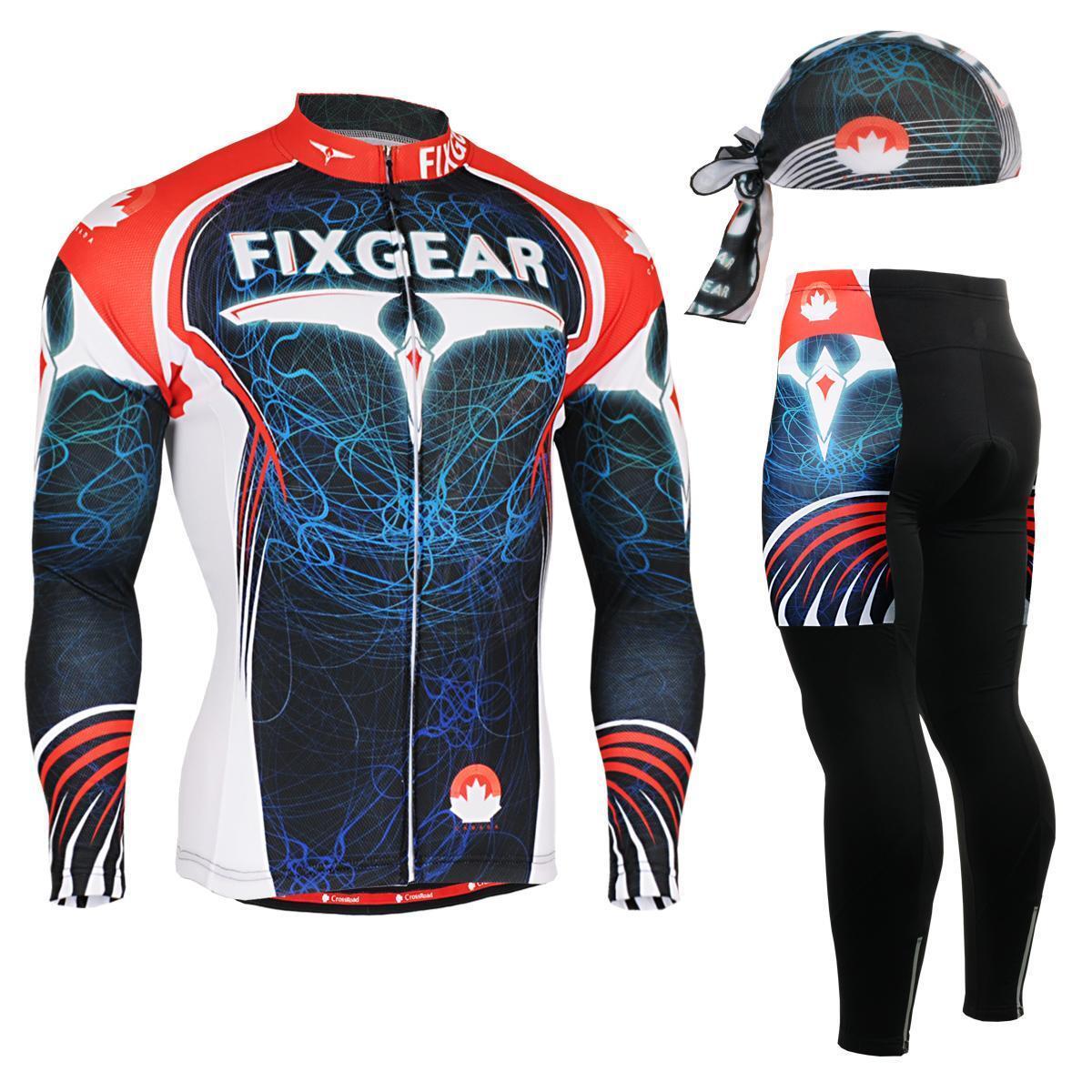 FIXGEAR CS-3501 SET Cycling Jersey & Padded Pants,MTB Bike,BMX,Beanie Free GIFT