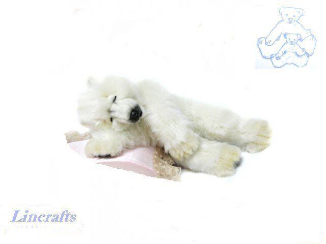 Hansa Sleeping Polar Bear Cub 4808 Soft Toy Sold by Lincrafts Established 1993
