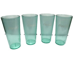 Image Is Loading Coca Cola Clear E Bottle Green Plastic Tumblers