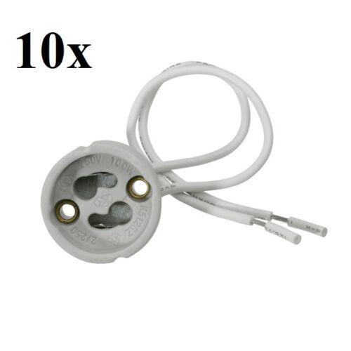 10x GU10 Fassung Keramik 230V Lampenfassung Hochvolt Halogen /& LED GU10 Sockel