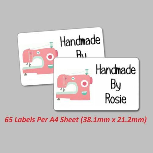 Costura 65 Etiquetas Personalizadas//Pegatinas hecho a mano Artesanía-Máquina de Coser