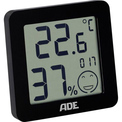 Innen Thermometer// Hygrometer Temperatur Station ADE WS 1707 Schwarz