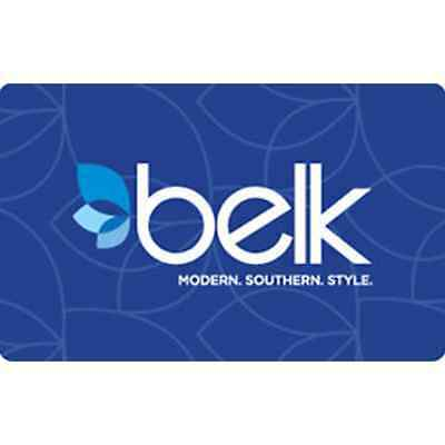 Belk Gift Card - $25 $50 or $100 - Email delivery