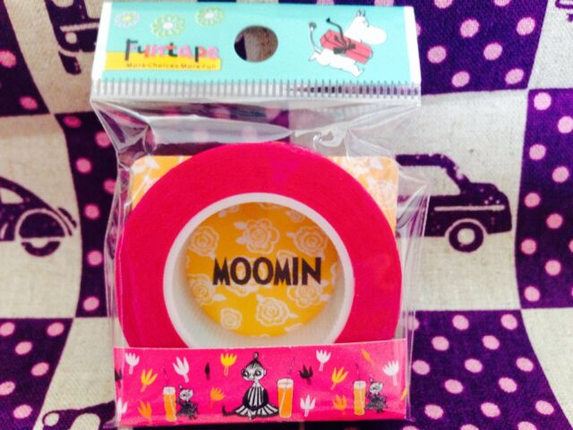Cute Moomin Washi Masking Tape Little My and Juice - Japanese Stationary