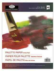 40-PAGE-COATED-TEAR-OFF-PAPER-PALETTE-ARTIST-PAINT-MIXING-PAD-OIL-ACRYLIC-RD350
