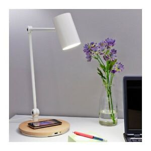 Ikea Riggad Led Work Lamp W Wireless Charging And Usb Port