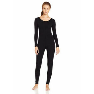 Scoop-Neck-Full-Body-Dance-Unitard-Bodysuit-Costume-Long-Sleeve-Unitard-Womens