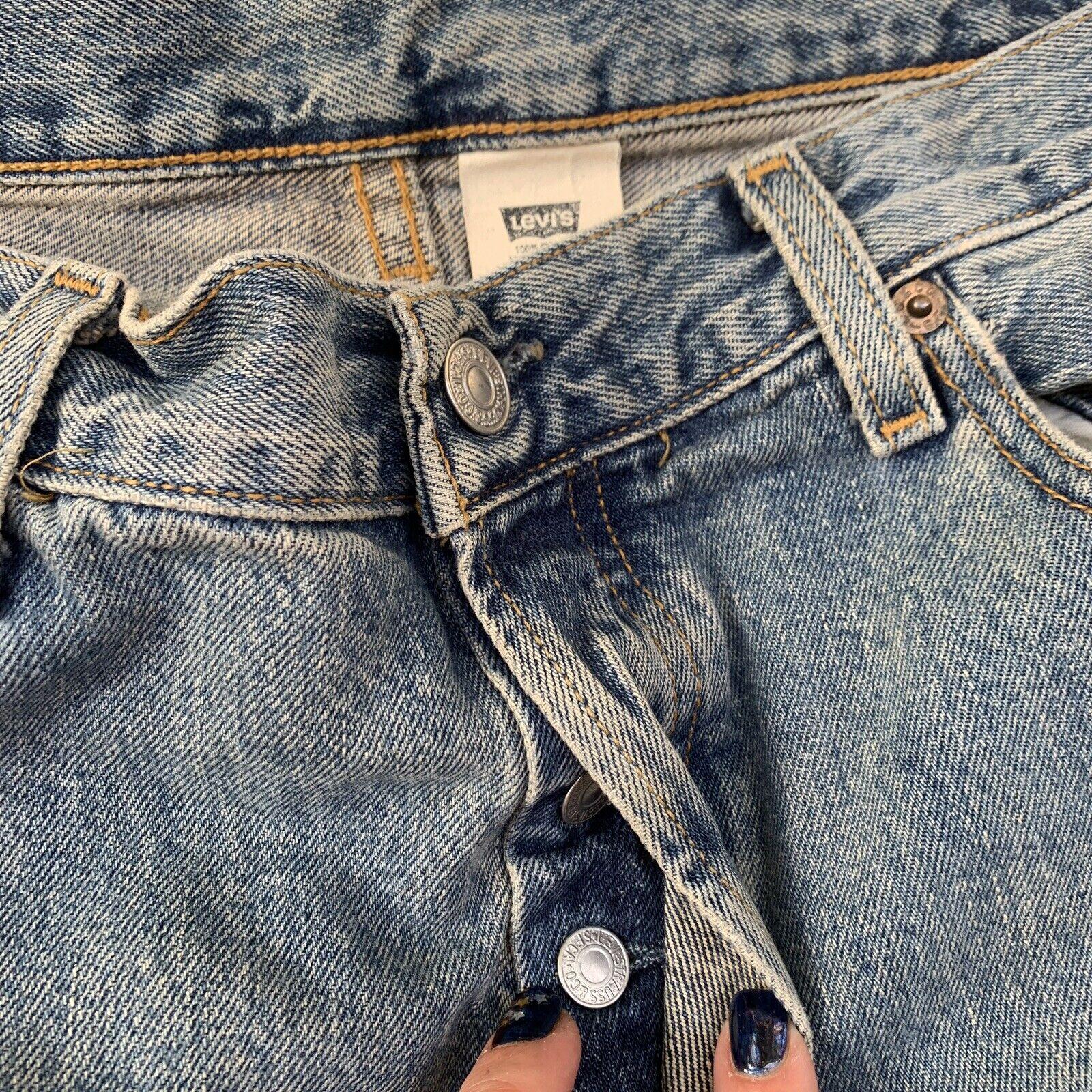 Vintage 90s LEVI'S 501 distressed Cut Off Shorts … - image 2