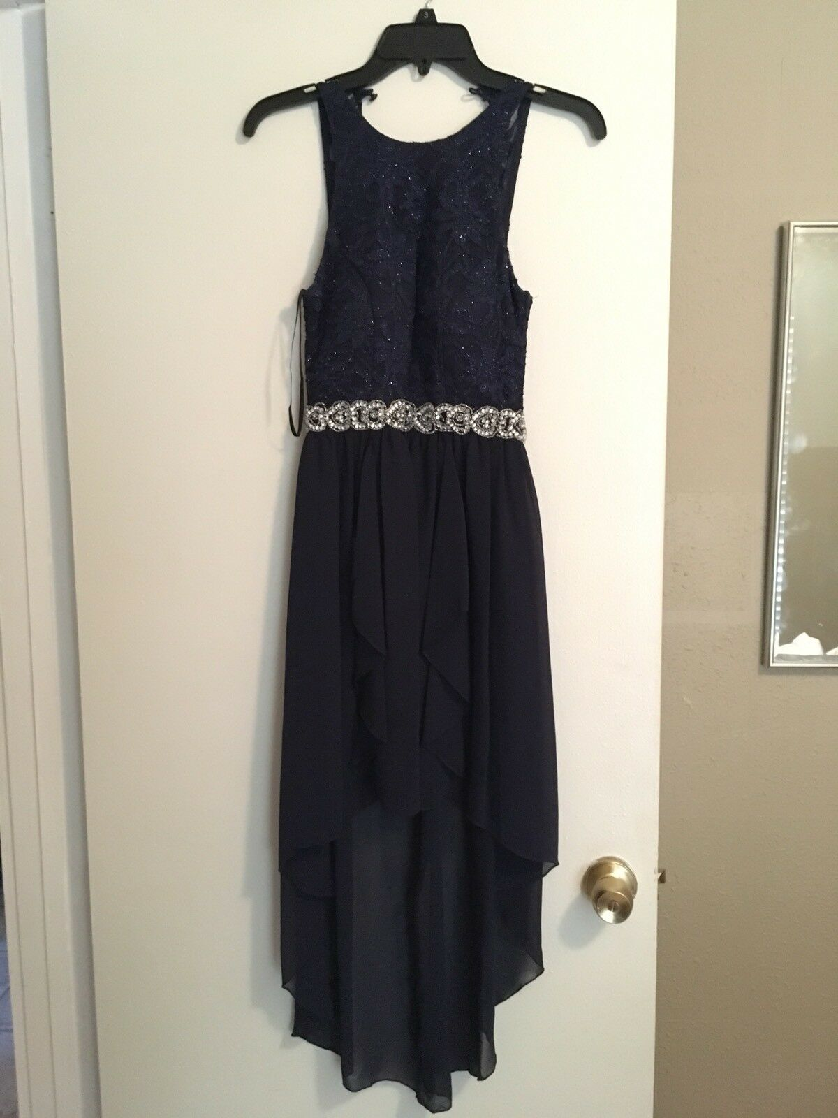 Navy High to Low Low Low Prom Dress Size 3 bc3dd8