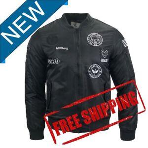 Men's Slim Fit Zip Bomber Flight Pilot Causal Baseball Short Style Jacket 11781
