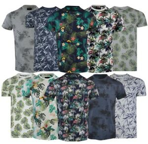 4f29a11e5 Mens Hawaiian Fashion Floral T- Shirt Short Sleeve Casual Cotton ...