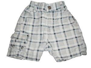 H-amp-M-tolle-kurze-Hose-Shorts-Gr-86-blau-kariert