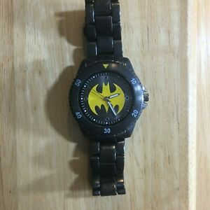 Mens-Accutime-DC-Comics-Batman-Metal-Band-Wrist-Watch-Bat8022-0713