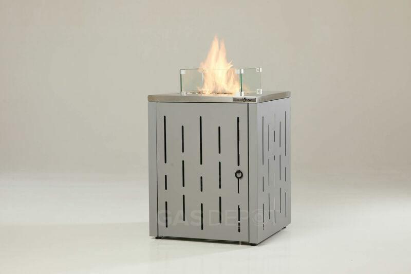 [GRADE B] REALGLOW Stripe Gas Patio Heater Fire Pit 13KW