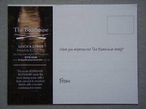 The Boathouse Restaurant Frankston Leaflet Postcard