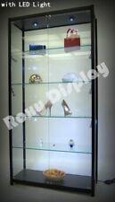 Black Tower Rectangular Display Showcase Assembled With Led Lights Sc Tw40bk