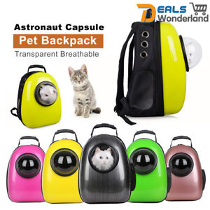 783dba70fb3 Image is loading Capsule-Pet-Backpack-Transparent-Breathable-Dog-Cat-Carrier -