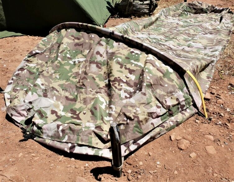 MULTICAM BIVY BAG WITH INSECT SCREEN + POLE-SLEEVE BREATHABLE & WATERPROOF