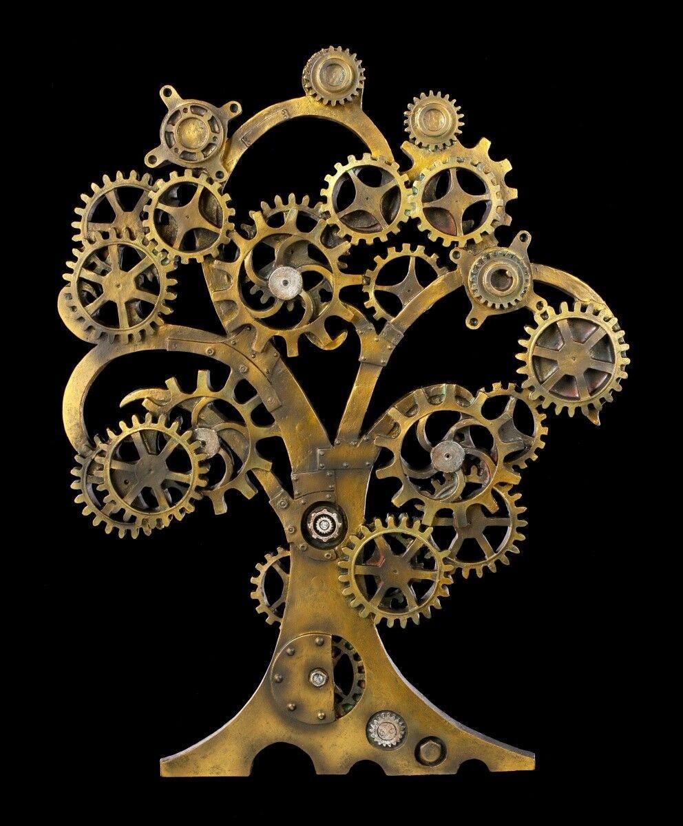 Steampunk Wandrelief - Tree of Life - Fantasy Gothic Baum des Lebens Wanddeko  | Erste Klasse in seiner Klasse