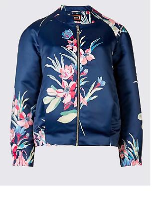 RRP £38 M/&S PER UNA 3//4 Sleeve Floral Kimono Jacket