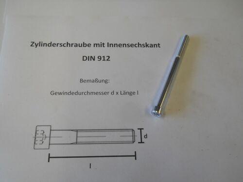 10 x M 6 x 80 ZYLINDERSCHRAUBEN MIT INNENSECHSKANT 8.8 DIN 912