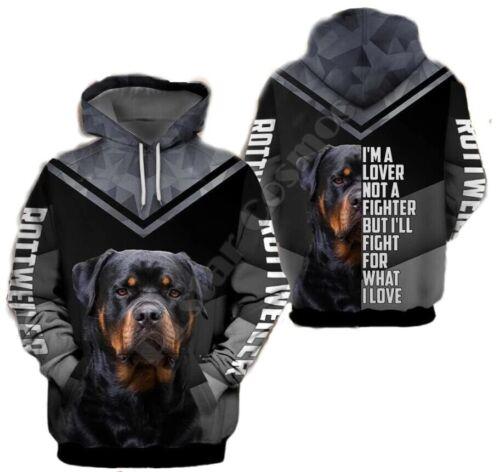 New Fashion Women//Men Rottweiler Dog 3D Print Hoodie Casual Sweatshirts K107