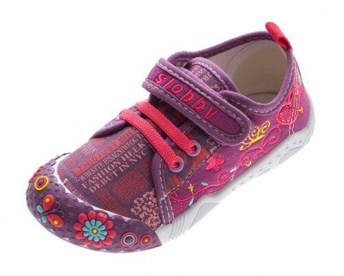 Zapatos para niños chica de lino jóvenes Kita sustancia semi zapatos zapatillas de casa 25-30