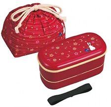 OSK Japanese Traditional Rabbit Moon Bento Box Set, Includes 620ml 2Tier Bento
