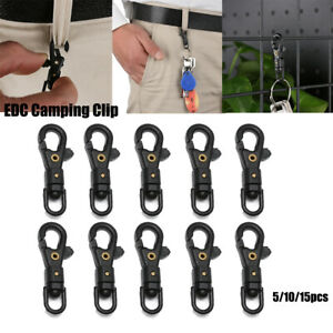 EDC Keychain Clips Hiking Bottle Hooks Snap Spring Clasp Climbing Carabiners