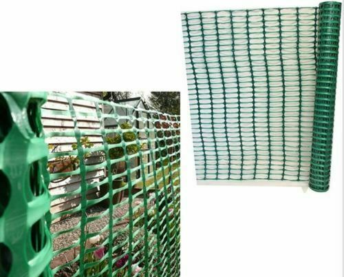Green Barrier Mesh Plastic Garden Fencing 1m x 15m Plant Animal Protective Fence