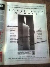 "ELTON GABRIEL STING Amnesty 25 years 1986 UK Poster size Press ADVERT 16x12"""