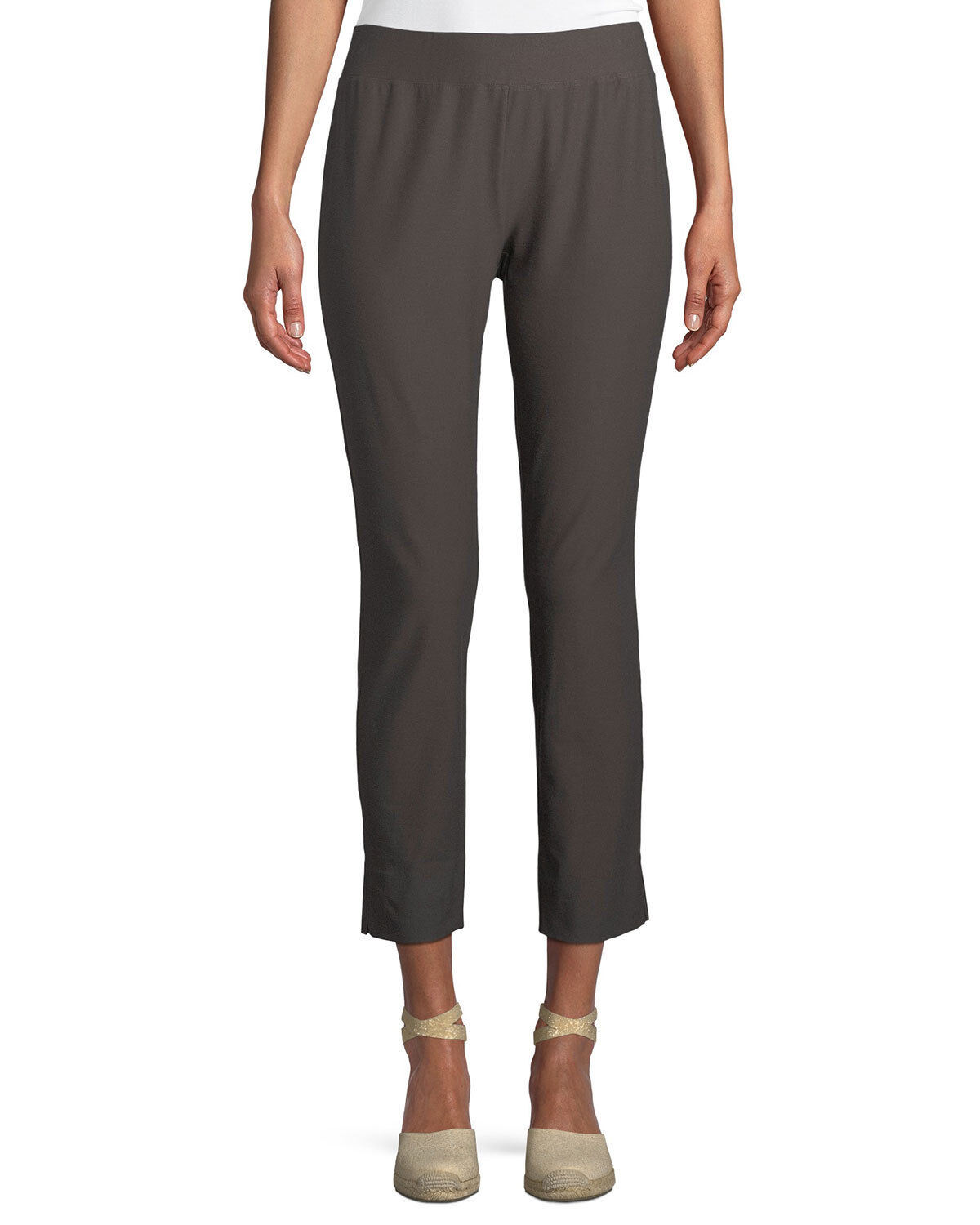 NWT EILEEN FISHER RYE Washable Stretch Crepe Slim Ankle Pants  168 S L XL