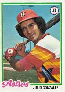 trading card Topps ASTROS 1978 JULIO GONZALEZ  #389