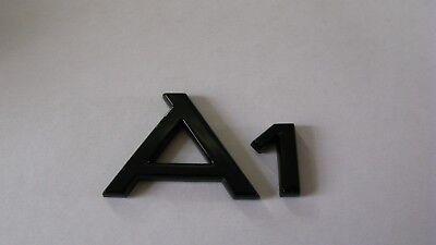 AUDI A1 REAR BADGE CUSTOM BLACK GLOSS A1  TDI S LINE TFSI BLACK EDITION