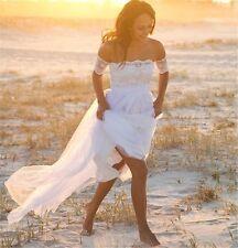 WOMENS BEACH WEDDING DRESS. BRIDAL GOWN. SIZES 2-16. HANDMADE.