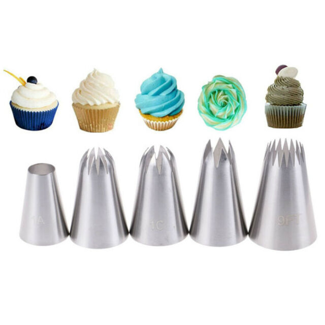 5x Large Russian Icing Piping Pastry Nozzle Tips Cake Decorating Tool  NozzlesXL