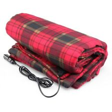 Electric Car Blanket Heated 12 Volt Fleece Travel Throw Great For Cold Weather