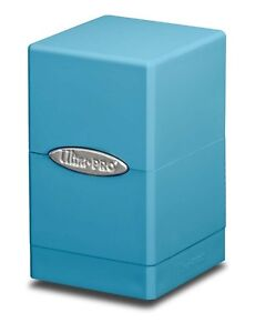 ULTRA-PRO-MTG-LIGHT-BLUE-SATIN-Tower-Deck-Box-NEW-Storage-Compartments-Gaming