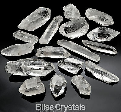 1/4 lb CLEAR QUARTZ Points n Pieces Mixed Sizes Natural Crystal Stone Healing