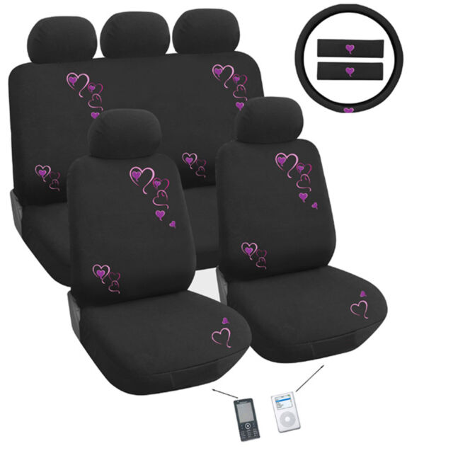 Heartlinks Red Car Seat Cover Set Universal Fit