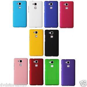 Dettagli su Custodia BACK Cover Case HARD Mat Rigida Plastica Colorata Matte per Huawei G8