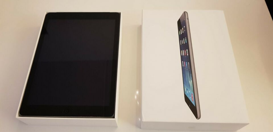 iPad Air, 16 GB, sort